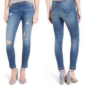 Vigoss The Chelsea Raw Hem Skinny Jeans sz 28